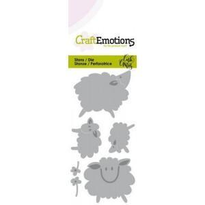 CraftEmotions Stanzschablone - Schafe