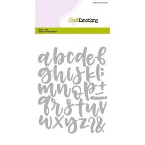 CraftEmotions Stanzschablone - Alphabet Handlettering Kleinbuchstaben
