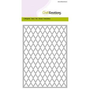 CraftEmotions Stanzschablone - Rhombus-Hintergrund