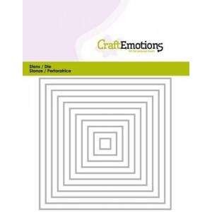 CraftEmotions Stanzschablone - Quadrat-Rahmen