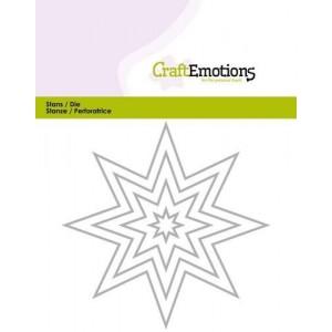 CraftEmotions Stanzschablone - Stern-Rahmen
