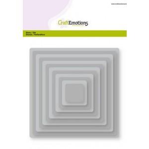 CraftEmotions Stanzschablone - Grundform abgerundete Quadrate