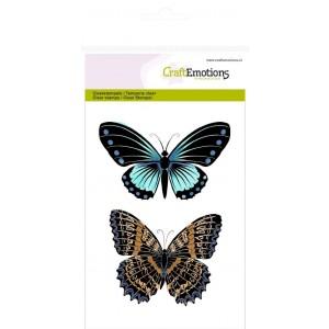 CraftEmotions Clear Stamps - 2 Schmetterlinge Nr. 1