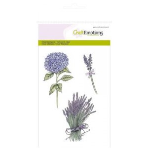 CraftEmotions Clear Stamps - Hortensien und Lavendel