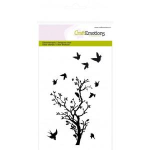 CraftEmotions Clear Stamps - Zweig mit Vögeln