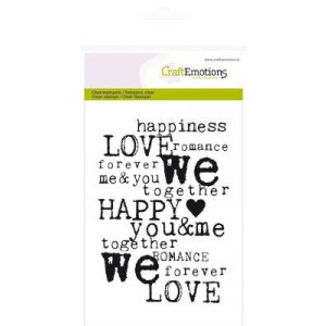 CraftEmotions Clear Stamps - Love-Hintergrund