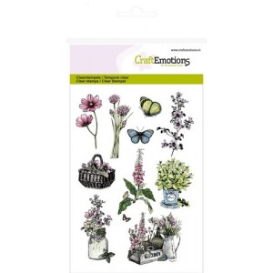 CraftEmotions Clear Stamps - Gartenblumen