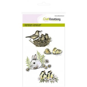 CraftEmotions Clear Stamps - Vögel & Hasen