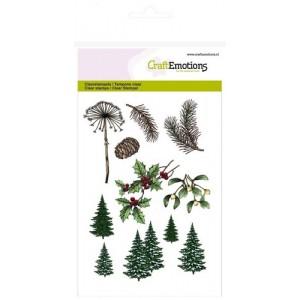 CraftEmotions Clear Stamps - Weihnachtsbaum-Zweige