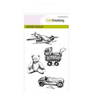 CraftEmotions Clear Stamps - Vintage Baby-Spielzeug
