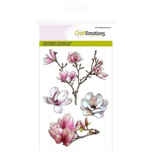 Craftemotions Clearstamps A6 - Magnolia Spring Time