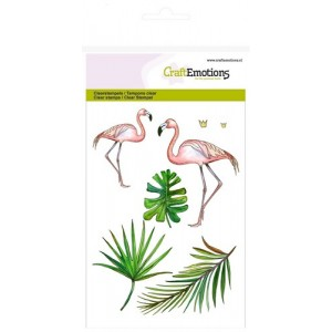 CraftEmotions Clear Stamps - Flamingo