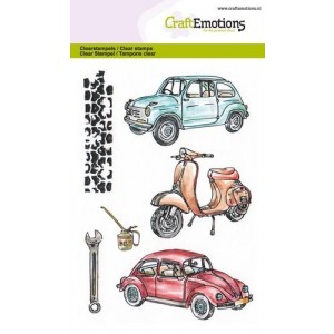 Craftemotions Clearstamps - Classic Cars 2