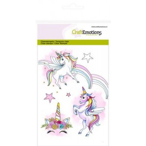 CraftEmotions Clearstamps A6 - Einhorn