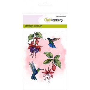 CraftEmotions Clearstamps A6 - Fuchsien und Kolibris