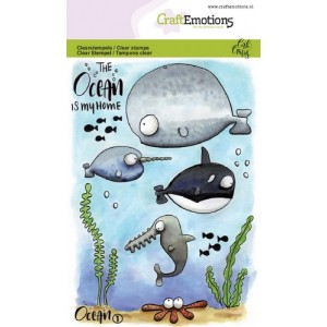 Craftemotions Clearstamps A6 - Ocean 1
