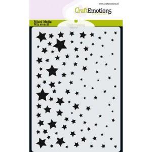 CraftEmotions Karten-Stencil A6 - Sternenhimmel
