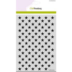 CraftEmotions Stencil A5 - Stern-Hintergrund