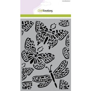 CraftEmotions Stencil A5 - Butterfly Large