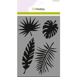 CraftEmotions Stencil A5 - Tropical Leaves