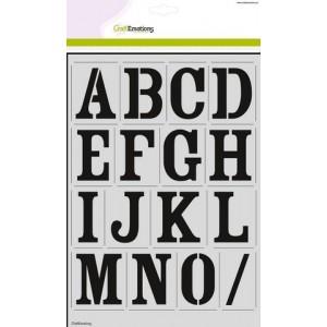 CraftEmotions Stencil groß - Alphabet Vintage DIN A4 - 30% RABATT