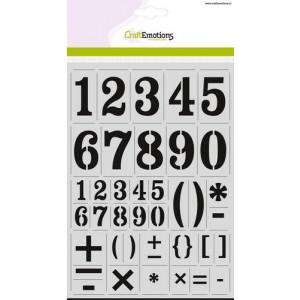 CraftEmotions Stencil groß - Zahlen Vintage DIN A4