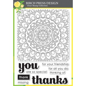 Birch Press Clear Stamp Set - Thankful Mandala