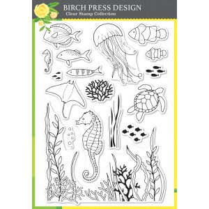 Birch Press Clear Stamp Set - Ocean Fantasy