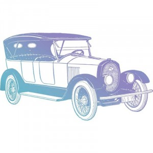 Couture Creations Men's Collection Vintage Car Mini Clear Stamp