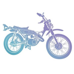 Couture Creations Men's Collection Motorcycle Mini Clear Stamp