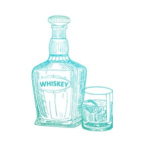 Couture Creations Whiskey Mini Stamp