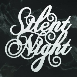 Couture Creations Silent Night Sentiment Mini Die