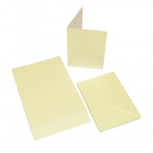 Craft UK Cardpack DIN A6 20 Karten und Umschläge - Perl-Champagner