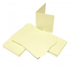 Craft UK Cardpack 50 Karten und Umschläge Creme - A6 / C6