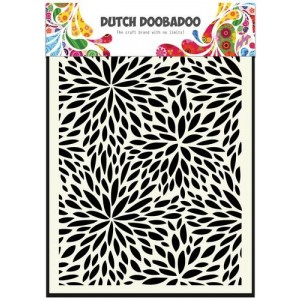 Dutch Doobadoo Mask Art Stencil A5 - Floral Waves
