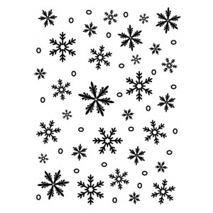 Darice Hintergrund-Prägeschablone - Snowflake Background