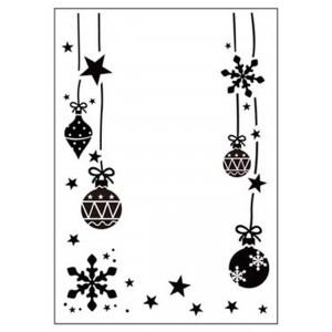 Darice Hintergrund-Prägeschablone - Ornaments Hung
