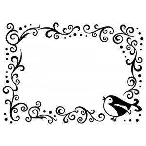 Darice Hintergrund-Prägeschablone - Bird Scroll Frame