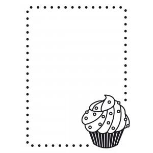 Darice Hintergrund-Prägeschablone - Cupcake