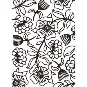 Darice Hintergrund-Prägeschablone - Floral Whimsy