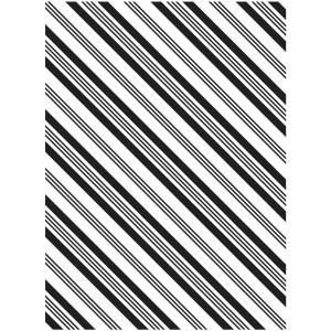 Darice Hintergrund-Prägeschablone - Diagonal Stripe