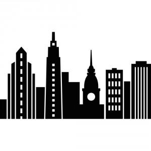 Darice Hintergrund-Prägeschablone - Cityscape