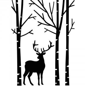 Darice Hintergrund-Prägeschablone - Deer In Forest