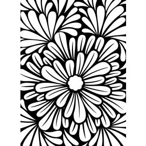 Darice Hintergrund-Prägeschablone - Bold Floral