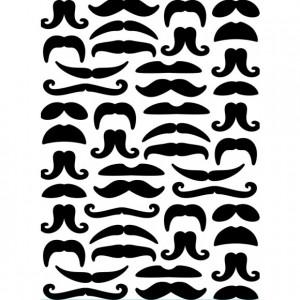 Darice Hintergrund-Prägeschablone - Mustaches