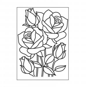 Darice Hintergrund-Prägeschablone - Mosaic Rose