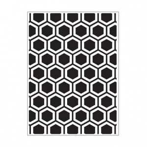 Darice Hintergrund-Prägeschablone - Honeycomb