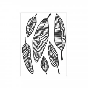 Darice Hintergrund-Prägeschablone - Falling Leaves