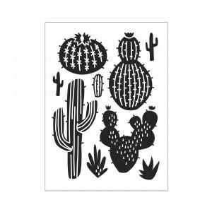 Darice Hintergrund-Prägeschablone - Scattered Cactus
