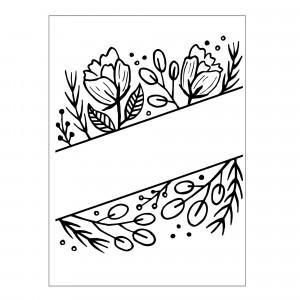Darice Hintergrund-Prägeschablone - Floral Blank